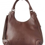 Chanel Brown Calfskin Tassel Hobo Bag