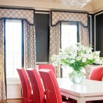 A glamorous life - Dining room chairs with contrasting piping by Tobi Fairley