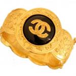 Glamorous jewellery - gold chanel cuff