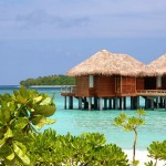 Glamorous travel - island paradise villas over water