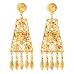 Glamorous jewellery - Gold chandelier earrings