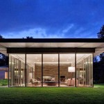 Images of modern houses in a garden setting