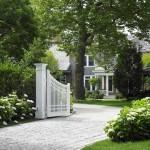 Images - house & garden - driveway entrance front gate - buildings and landscape