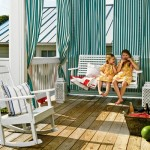 Beach house interiors pictures - bigelow-striped-porch