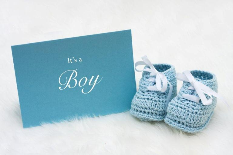 It's a boy card and blue booties