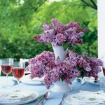 Martha Stewart - Mothers Day Flowers and Decorations - Stacked Lilac Arrangement