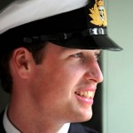 Prince William in uniform as young man wearing his cap with insignia