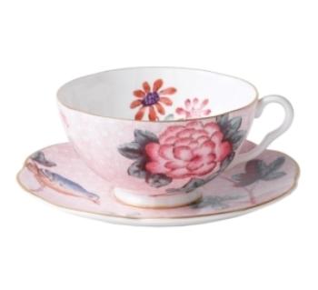Wedgwood Dinnerware - Pink Cuckoo Tea cup and Saucer