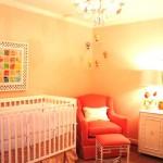 Stylish baby nurseries - baby nursery in pink salmon coral tones