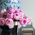 luscious pink peonies in vase - a glamarama life