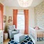 Beautiful baby nursery - pam cooley nursery blue rug gold baby room