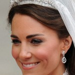 Catherine and royal tiara on her wedding day