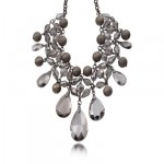 Chunky_Gray_Crystal_Tear_Drop_Bib_Necklace