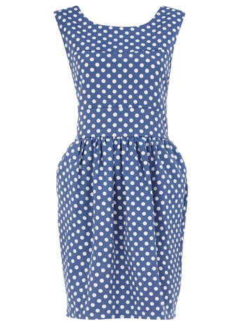 Dorothy Perkins Blue polka dot Dress