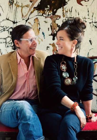 Andy and Kate Spade in their home in Manhattan