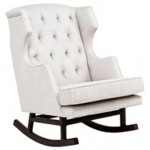 Baby nursery decor - Nursery Works Empire Rocker in white