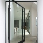 Rotating glass door