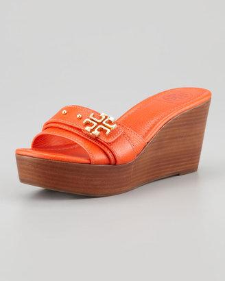 Online shopping: Tory Burch Elina Mid-Wedge Slide Sandal Orange