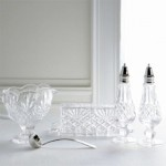 Vintage crystal dining room accessories via myLusciousLife.com