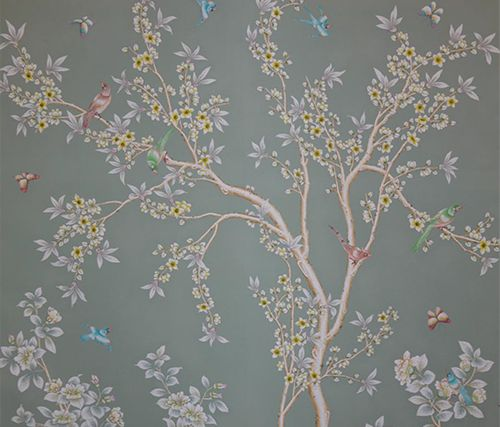 Shop this look aerin lauder s gracie studio chinoiserie for Oriental style wallpaper uk
