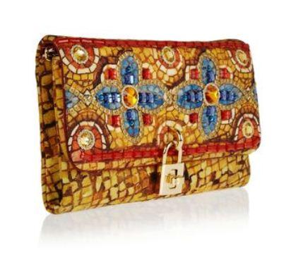 DOLCE & GABBANA Dolce gold embellished brocade clutch