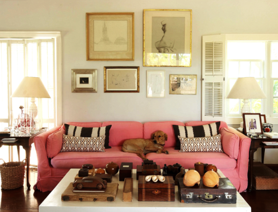 India Hicks and David Flint Wood - home in the Bahamas - living room