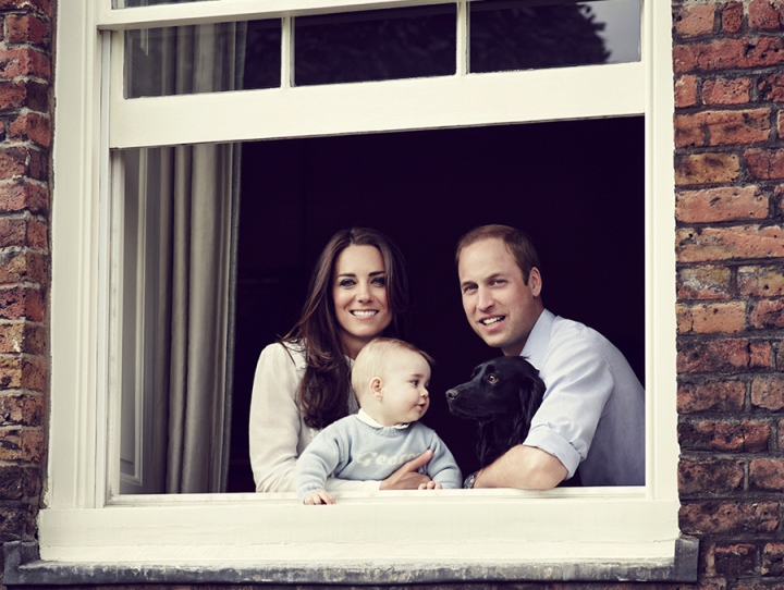 Kate, William, George and Lupo