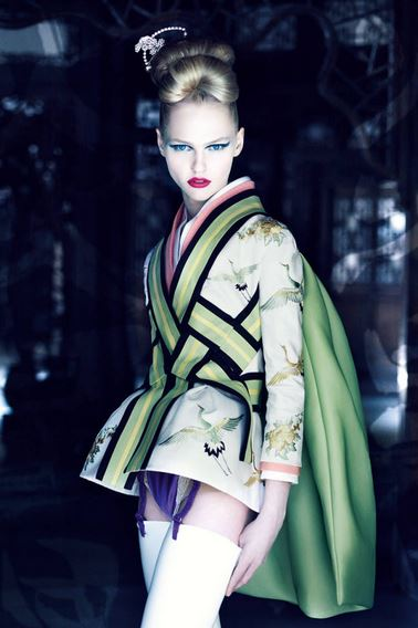 INSPIRED BY ASIA: Dior Spring Summer 2007 Haute Couture Collection by Patrick Demarchelier 2007