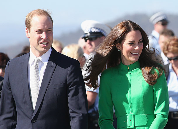 DUCHESS STYLE: Prince William and the Duchess of Cambridge at the National Arboretum in Canberra