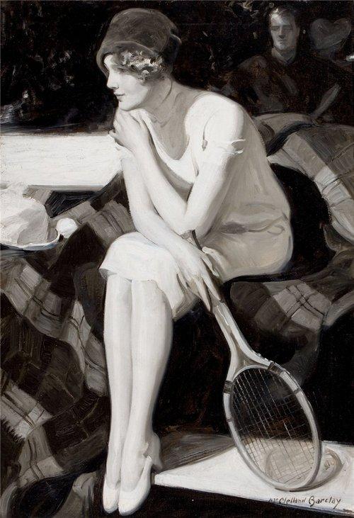 Vintage tennis photo
