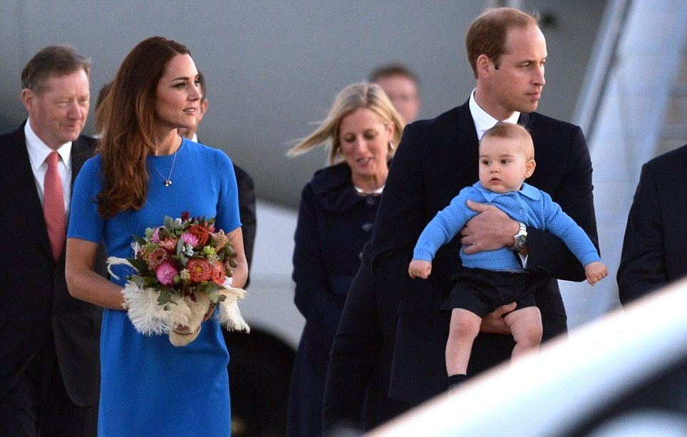 ROYAL TOUR: Kate Middleton in a blue Ridley dress by Stella McCartney arriving in Canberra