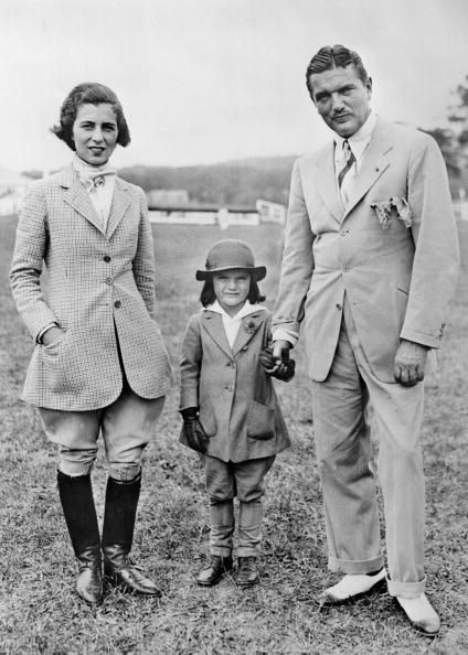 Young Jackie Bouvier Kennedy Onassis with her parents John Vernou aka Black Jack Bouvier III and mother Janet Lee Bouvier