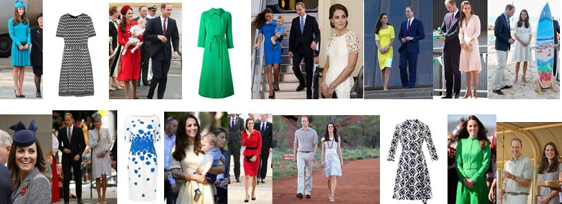PHOTOS Royal tour - April 2014- Summary of Kate Middleton outfits - see all her clothes