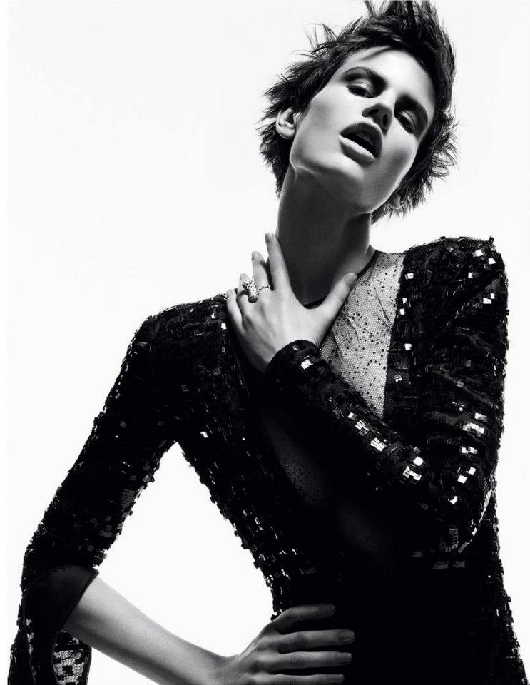 GOTHIC GLAM: Saskia de Brauw by Daniel Jackson for Vogue Germany November 2012