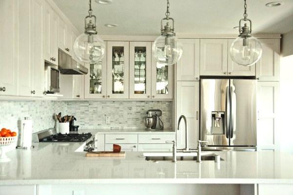 INSPIRATION ON A BUDGET: Beautiful IKEA kitchen by housetweaking.com via myLusciousLife.com