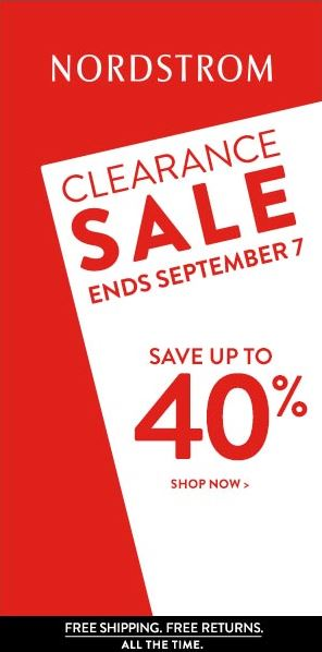 SALE ALERT - Nordstrom up to 40% off Labor Day sale 2014