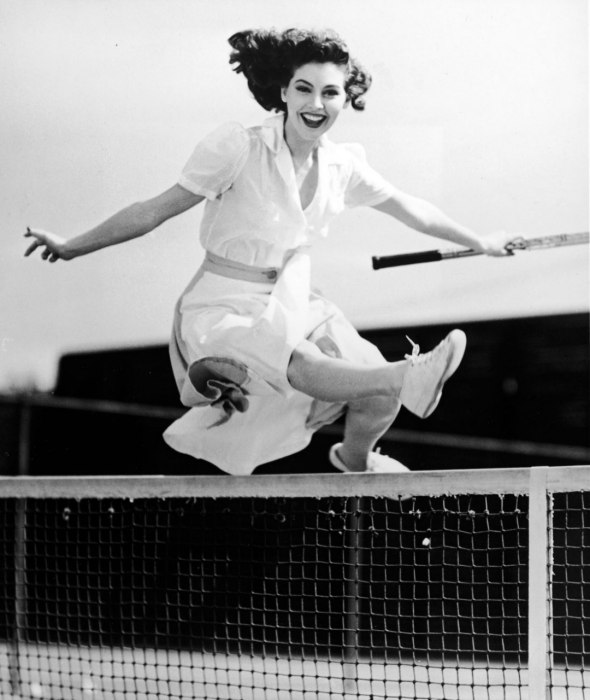 A healthy life - pictures -Ava Gardner courtside during a 1940s photo shoot