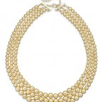Macy's sale: Charter Club Gold-Tone Three-Row Graduated Necklace
