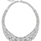 Macy's sale: Charter Club Silver-Tone Glass Stone Collar Necklace