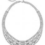 Macy's sale: Charter Club Silver-Tone Glass Stone Collar Necklace