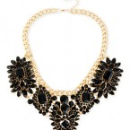 Macy's sale: Haskell Gold-Tone Jet Mixed Bead Statement Frontal Necklace