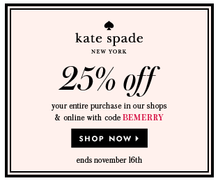 SALE ALERT Kate Spade November 2014