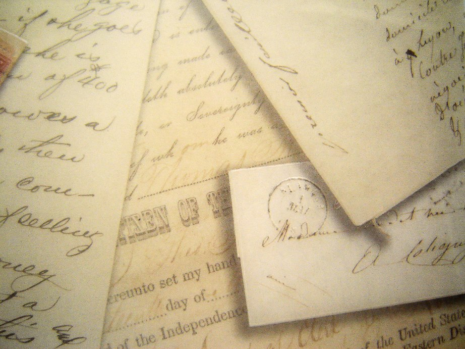 Literary lusciousness - a pile of old manuscripts via myLusciousLife.com