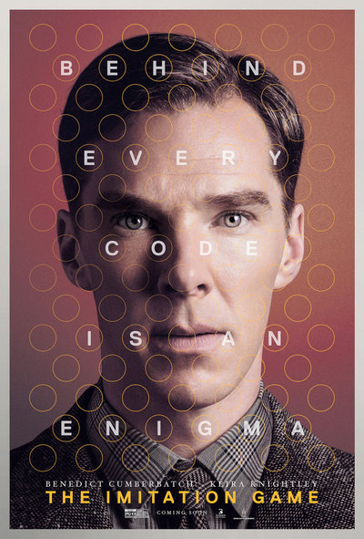 LUSCIOUS SOUNDTRACKS: Poster art for The Imitation Game film - Alan Turing Enigma codebreaking movie