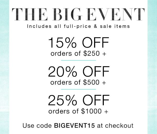 SALE ALERT Shopbop up to 25% off sale