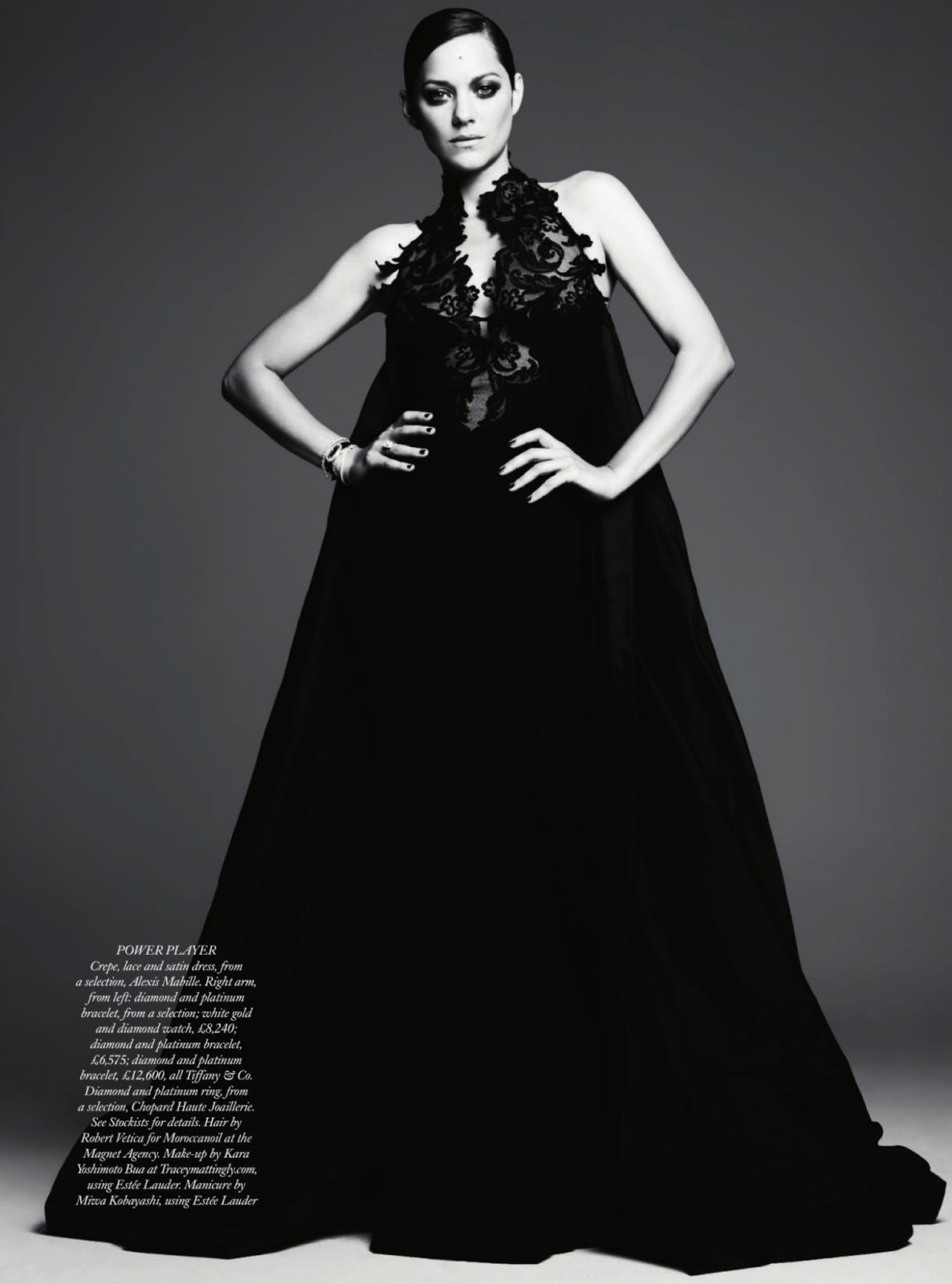 Fashion editorial: Marion Cotillard by Ben Hassett for Harpers Bazaar UK December 2012