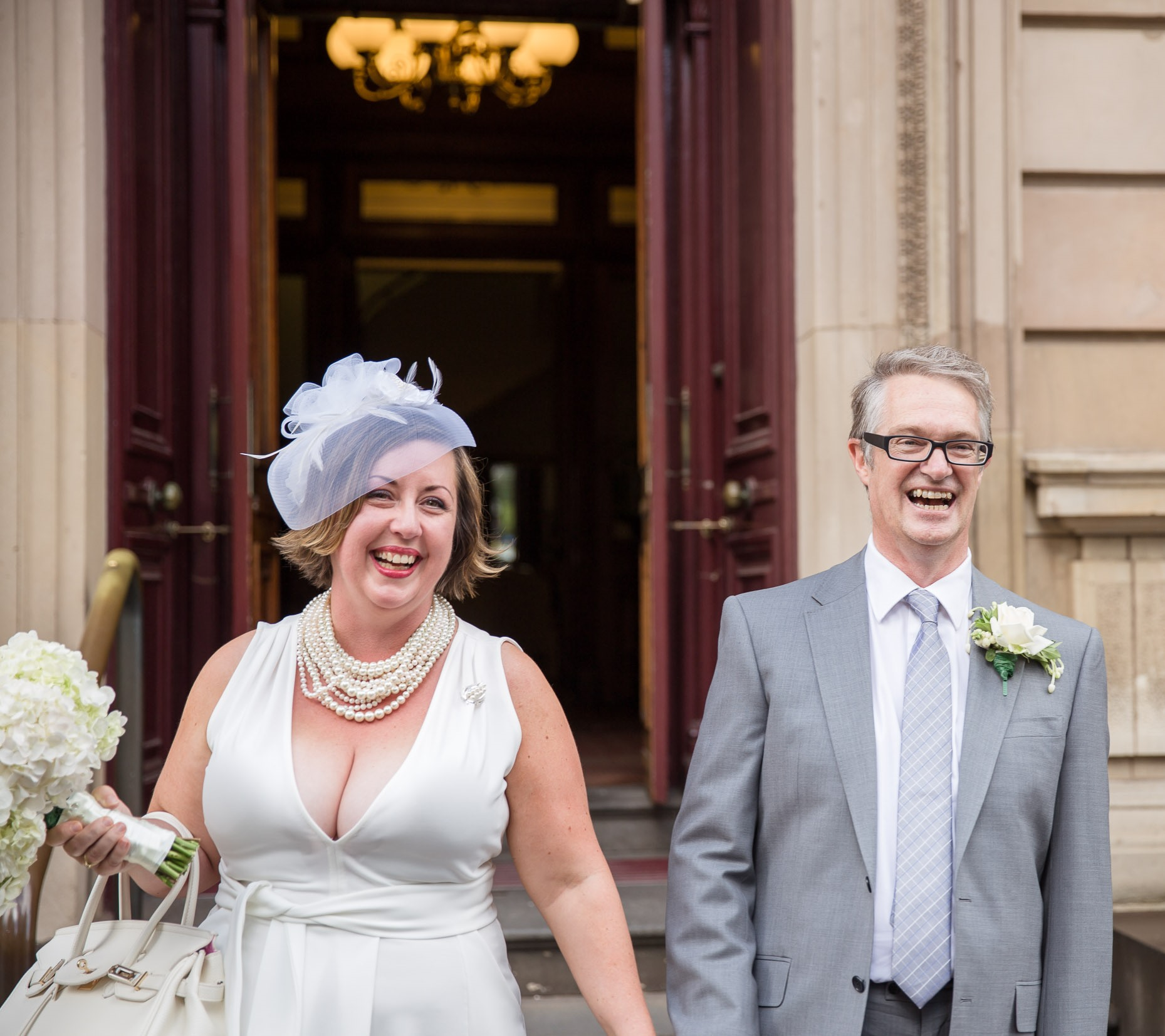 A LUSCIOUS WEDDING: Mr & Mrs Luscious outside the Melbourne Registry Office - March 2016