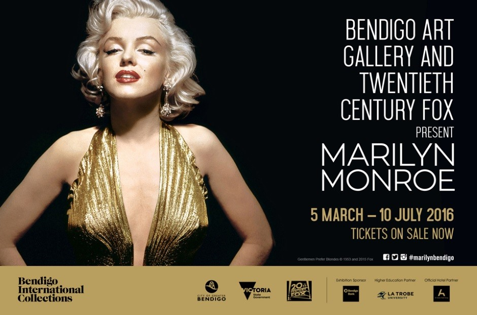 BEAUTIFUL BENDIGO: Hollywood glamour comes to rural Bendigo with the Marilyn Monroe exhibition at the Bendigo Art Gallery in 2016