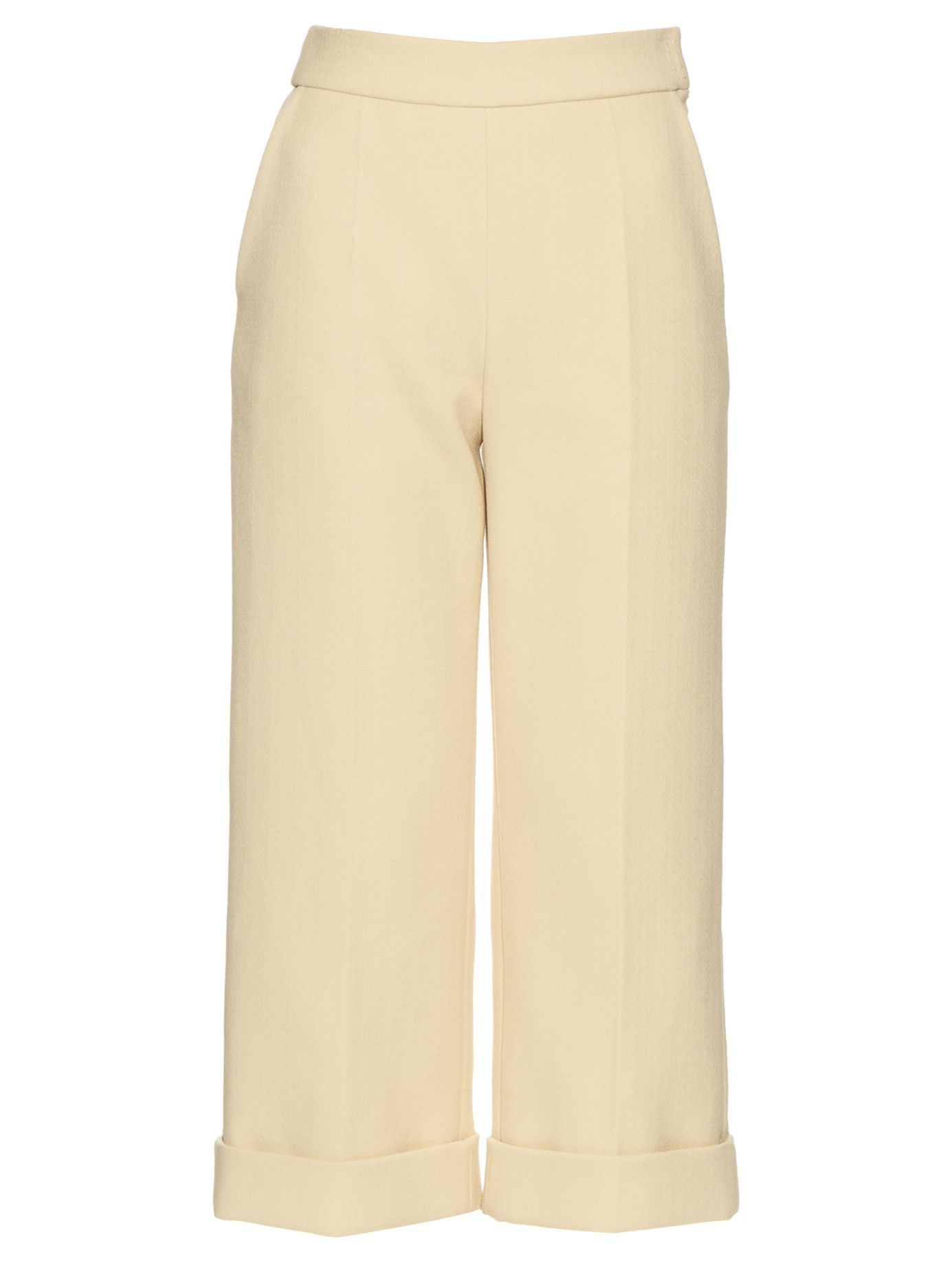 CASUAL CHIC: DELPOZO Wide-leg cropped trousers