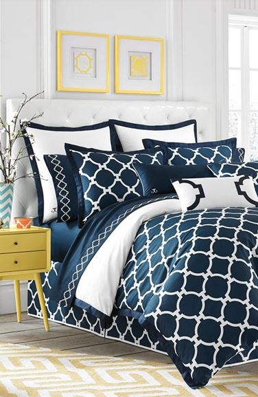 STYLISH BEDROOM IDEAS: Jill Rosenwald 'Hampton Links' Bedding Collection